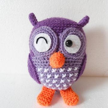 Amigurumi Coruja Roxa (Owl Gurumi)