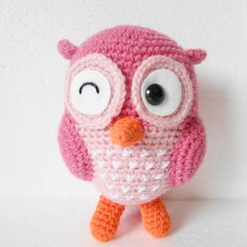Amigurumi Coruja Rosa (Owl Gurumi)