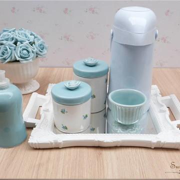 Kit higiene Azul floral
