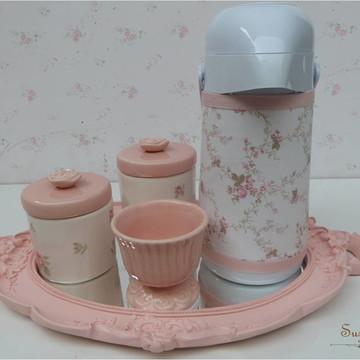 Kit Higiene Rosa seco com garrafa