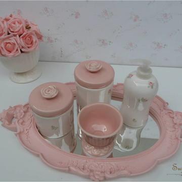 Kit Higiene Rosa Seco com liquida