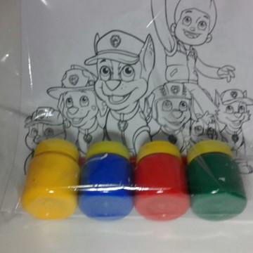 Kit de colorir com tinta guache