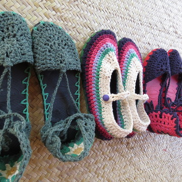 a073866dd Sapatos de Crochê   Elo7
