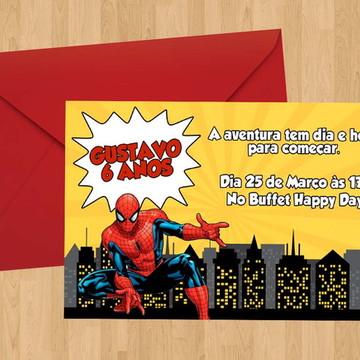 Convite - Tema Homem Aranha