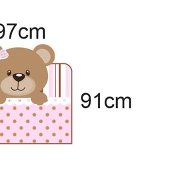 Adesivo cabeceira cama ursinha