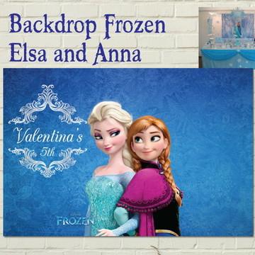Painel Impresso FROZEN Anna e Elsa