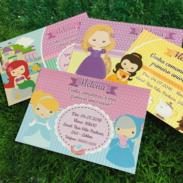 Convite Princesas Cute