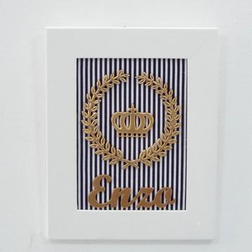 Coleção Realeza - Coroa&Brasão com nome