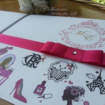 Convite 15 Anos/Pink/PROMOÇÃO