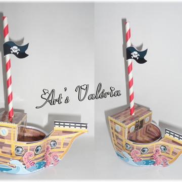 Barco Pirata - Enfeite de Mesa