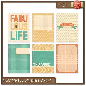 Kit Digital Playcenter Journal Cards