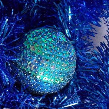 Bola de Natal Orbe Azul Céu
