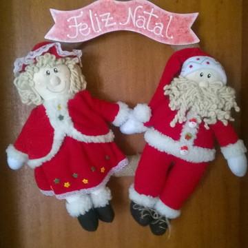 Guirlanda Papai Noel e Mamãe Noela