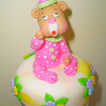 Pote de Biscuit Urso de Pijama