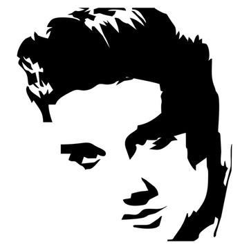 Adesivo rock heavy metal Elvis