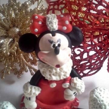 Enfeite de bolo Minnie vermelha ( natal ou tradicional )