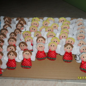 enfeite de arvore de natal anjos