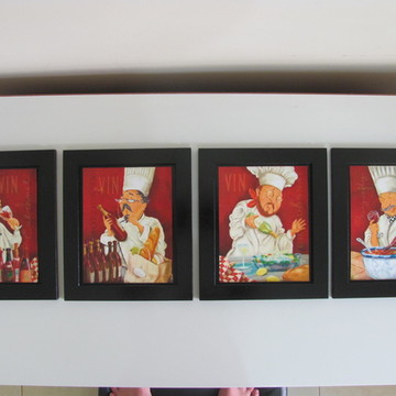 Quarteto de Quadros Pretos d Cozinheiros