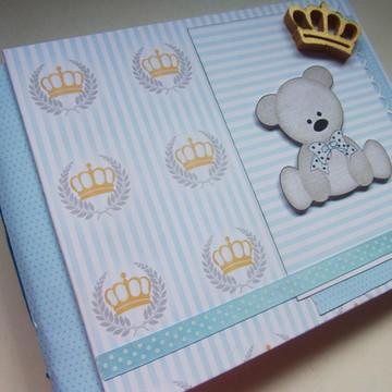 Álbum Primeiras Visitas Urso Príncipe