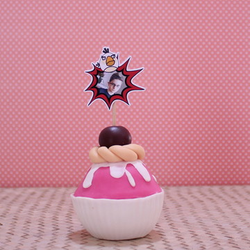 Topper para doce c/ foto- Angry birds