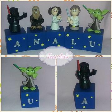 Cubo Star Wars Azul letra+personagem