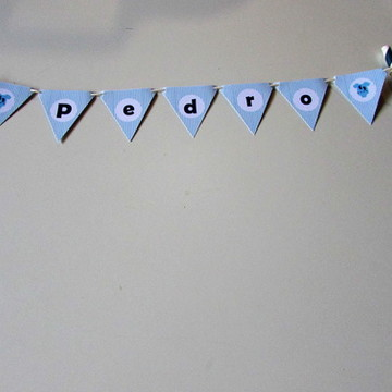 Bandeirola Topo de Bolo Chá de Bebê