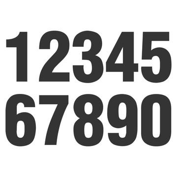 Adesivo Números Numeral Organizador