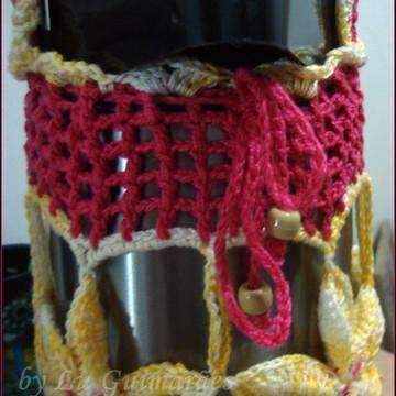 Capa para Garrafa Térmica Crochê