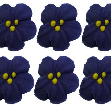 Flor de açúcar- violetas
