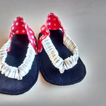 Sandália de tecido