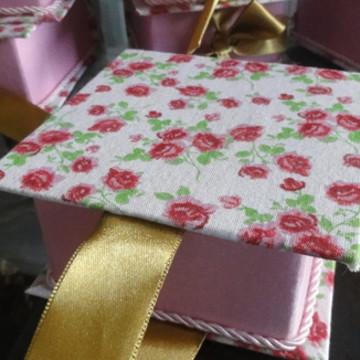 Caixinhas forradas em tecido,parte inter