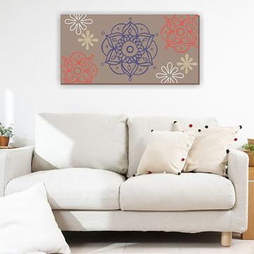 Quadro Pintura em Tela Mand.Fendi 100X50cm