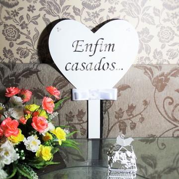 Placa de noivos