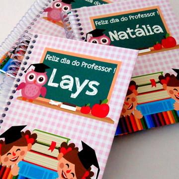 Caderno Dia do Professor Rosa Menina