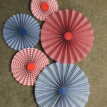 Painel SCRAP RED BLUE Kit LUXO Fioratas