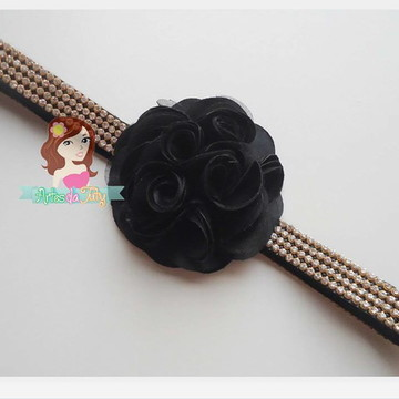 headband Stráss e Flor