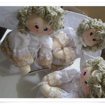 trio anjinhos de pano