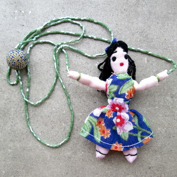 Colar infantil-boneca de pano-'Marinete'
