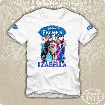 Camiseta Frozen Disney Personalizada