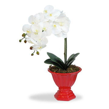 Arranjo de flores artificiais orquidea