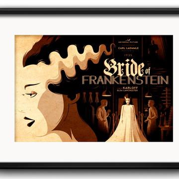 Quadro Noiva do Frankenstein Paspatur