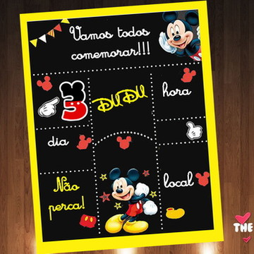 Convites Mickey Mouse
