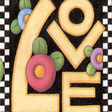 Quadro Vintage - Mensagem Love
