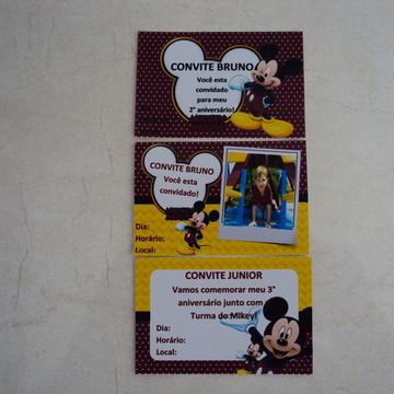 Convite Personalizado Mickey 0318