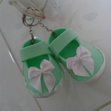 Sapatinho Chaveiro Verde bebê