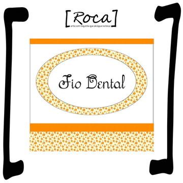 f9b268983 Rótulo Adesivo Fio Dental (Kit Toalete)