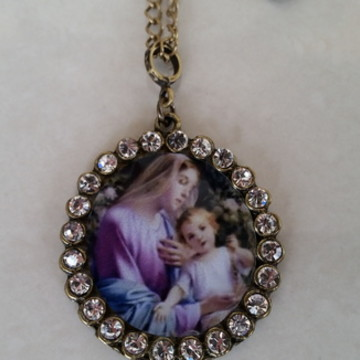 Colar/ Medalha Nossa Senhora do Rosário