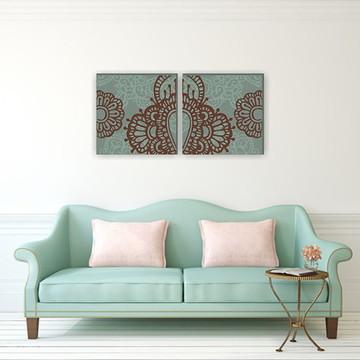Quadro Pintura em Par de Telas Marrocos III 60X60cm