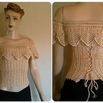 Blusa Crochet Cigana