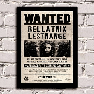 Poster com Moldura Wanted Bellatrix